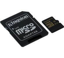 Kingston Micro SDHC 16GB UHS-I U3 + SD adaptér - SDCG/16GB