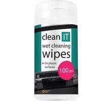 Clean IT mokré ubrousky na plasty 100ks - CL-29