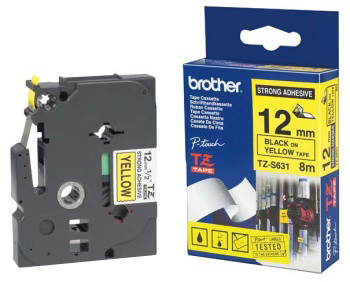 Brother TZE-S631, žlutá/černá, 12mm