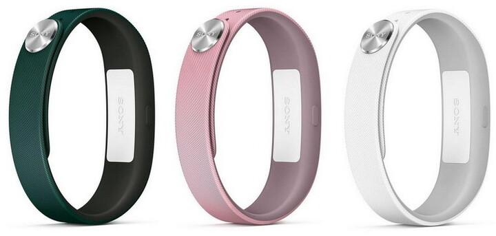 Sony řemínek SWR110 Fashion L pro SmartBand SWR10, 3 ks (tmavě zelená, světle růžová, bílá)