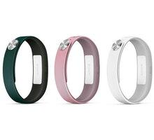 Sony řemínek SWR110 Fashion L pro SmartBand SWR10, 3 ks (tmavě zelená, světle růžová, bílá) - 1280-9638