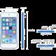 Apple iPod touch - 64GB, bílá/stříbrná, 6th gen.