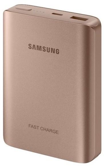 Samsung PowerBank 10200 mAh, fast charge, USB type C, růžovo-zlatá