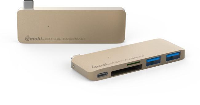Gmobi Multi-port USB-C Hub, zlatá