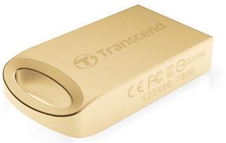 Transcend JetFlash 510G 8GB, zlatá