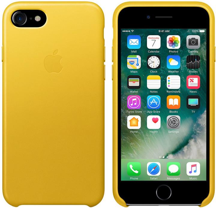 Apple iPhone 7 Leather Case, slunečnicová