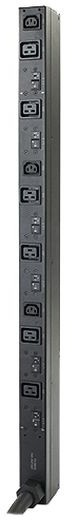 APC rack PDU, Zero U, 14.4kW, 208 V, (6) C19 & (3) C13, High Temp