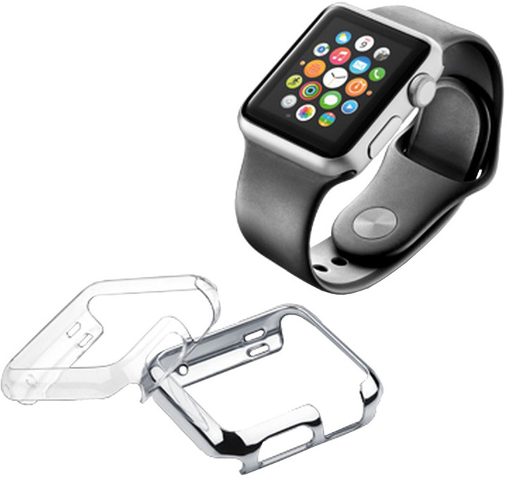 CellularLine Invisible ochranný kryt pro Apple Watch 38mm, 2ks