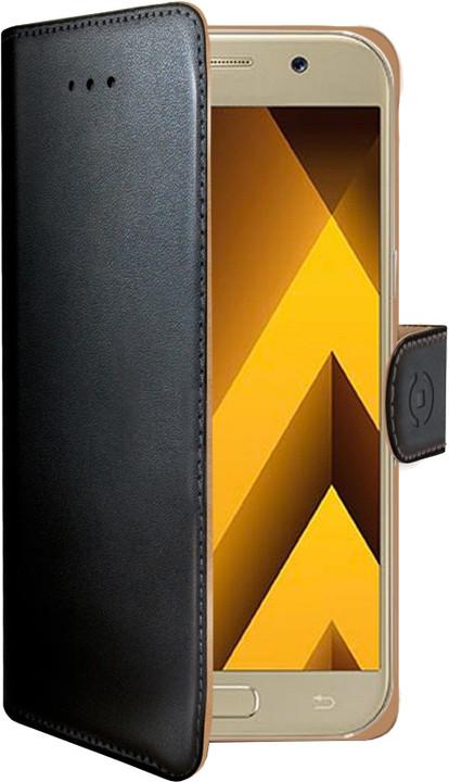 CELLY Wally Pouzdro typu kniha pro Samsung Galaxy A5 (2017), PU kůže, černé