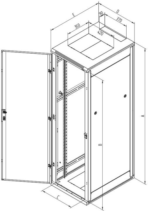 Triton RMA-42-L81-CAX-A1, 42U, 800x1000