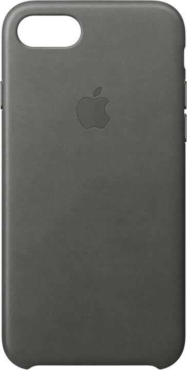 Apple Kožený kryt na iPhone 7 – bouřkově šedý