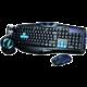 Set KB, myš a sluchátka E-Blue Cobra, černý/modrý, US