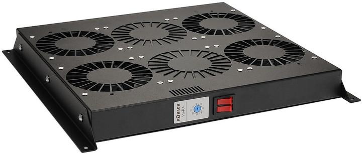 Solarix ventilační jednotka VJ-R4-T-B , 4 ventilátory s termostatem, VJ-R4