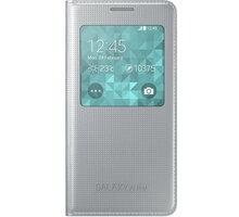 Samsung S-view EF-CG850B flipové pouzdro pro Galaxy Alpha (SM-G850), stříbrná - EF-CG850BSEGWW