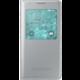 Samsung S-view EF-CG850B flipové pouzdro pro Galaxy Alpha (SM-G850), stříbrná