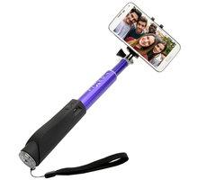 FIXED Bluetooth selfie stick s tlačítkem, fialová - FIXSS-BT-BL