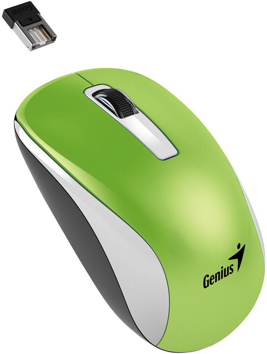 Genius NX-7010, bezdrátová, bílá/zelená
