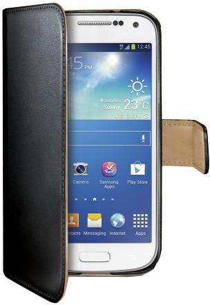 CELLY Wally pro Samsung Galaxy S4 Mini, PU kůže, černá