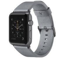 Belkin kožený řemínek pro Apple watch (38mm), šedý - F8W731btC02