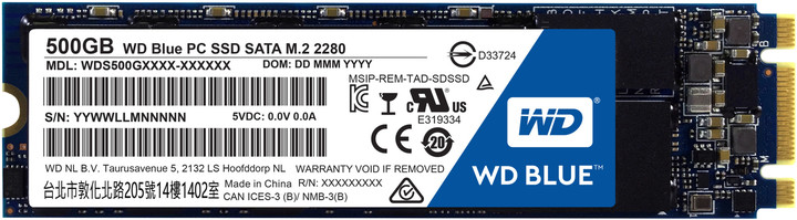 WD SSD Blue, M2 2280 - 500GB