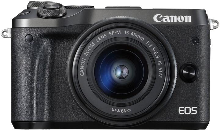 Canon EOS M6 + EF-M 15-45mm IS STM, černá