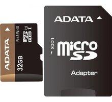 ADATA Micro SDHC 32GB UHS-I + adaptér - AUSDH32GUI1-RA1