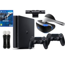 VR RACING SET - PS4 Slim, 1TB, 2x DS4 - PS719893653B2 + Virtuální brýle PlayStation VR + PlayStation 4 - Move Controller, twin pack, černý + PlayStation 4 - Kamera v2 + Driveclub VR (PS4 VR)
