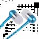 Accent bundle selfie tyč + zip sluchátka - modré