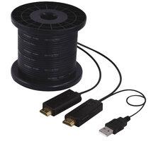 PremiumCord HDMI propojovací kabel po optickém vlákně, 100m, M/M - kphdmx100