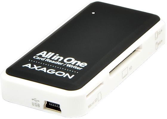 AXAGON externí mini čtečka 5-slot ALL-IN-ONE