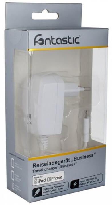 Fontastic cestovní nabíječka s konektorem Lightning, 1A, bílá, box
