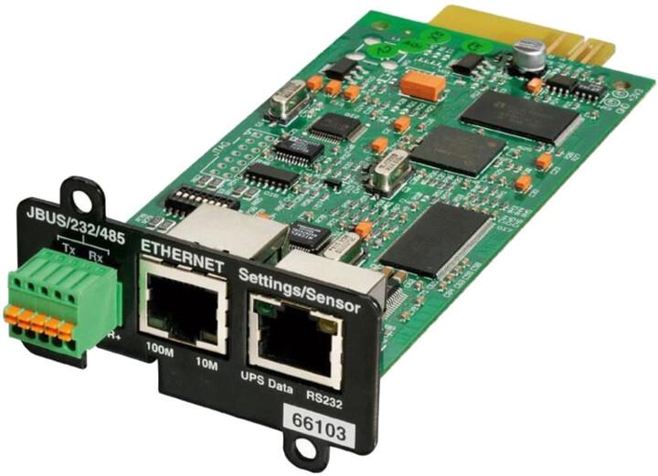 Eaton komunikační karta - MS Web/SNMP a ModBus (pro 5P, 5PX, 5130, EX, 9130, 9PX, 9SX, 93PM, 93E)