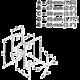 Meliconi 480502 Sound 50 Držák reproduktorů, černá