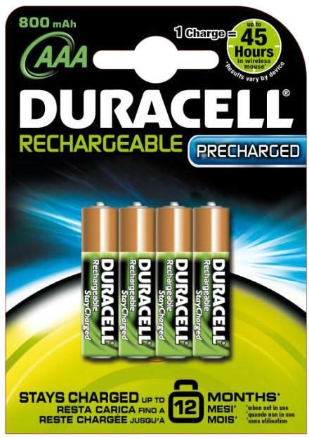 Duracell Stay Charge AAA - 800 mAh, 4ks