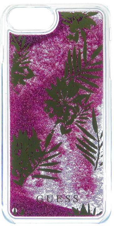 Guess Liquid Glitter Hard Palm Spring Rose pouzdro pro iPhone 7 Plus