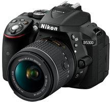 Nikon D5300 + AF-P 18-55 VR + 55-200 VR II, černá - VBA370K019