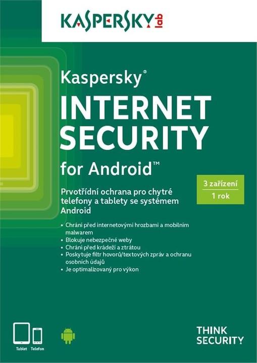 Kaspersky Internet Security pro Android CZ, 3 zařízení, 1 rok, nová licence, krabicová