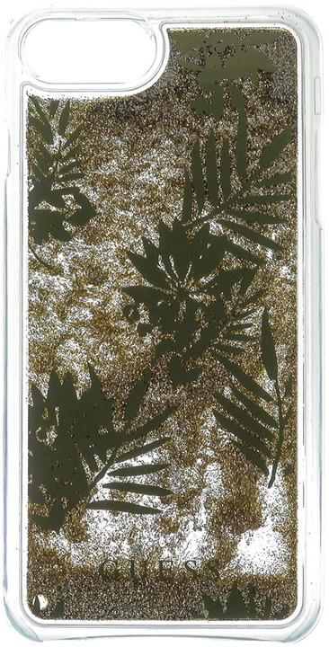 Guess Liquid Glitter Hard Palm Spring Gold pouzdro pro iPhone 7