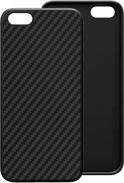 Nillkin Synthetic Fiber Ochranný Zadní Kryt Carbon Black pro iPhone 5/5S/SE