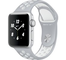 Apple Watch Nike + 38mm Silver Aluminium Case with Flat Silver/White Nike Sport Band - MNNQ2CN/A