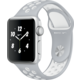 Apple Watch Nike + 38mm Silver Aluminium Case with Flat Silver/White Nike Sport Band