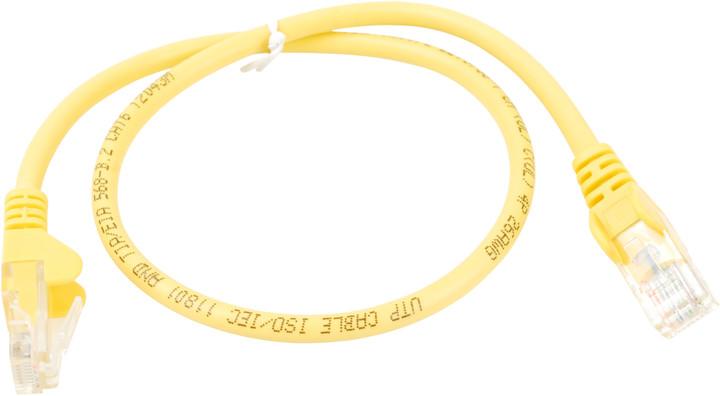 UTP kabel rovný kat.6 (PC-HUB) - 10m, žlutá