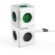 PowerCube EXTENDED prodlužovací přívod 1,5m - 5ti zásuvka, šedá