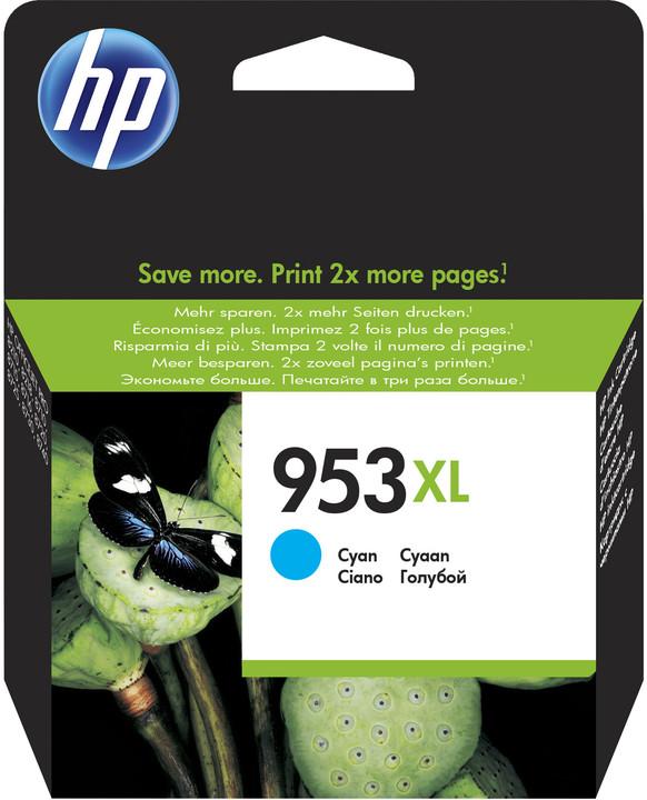 HP F6U16AE, náplň č.953 XL, azurová