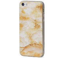 EPICO pružný plastový kryt pro iPhone 5/5S/SE MARBLE - zlatý - 1110102000033