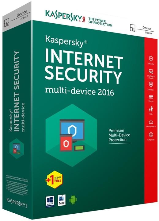 Kaspersky Internet Security multi-device 2017 CZ, 3 zařízení, 2 roky