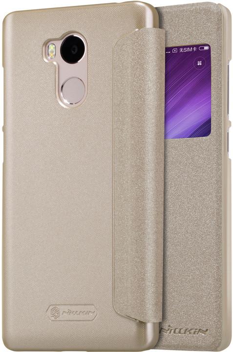Nillkin Sparkle Leather Case pro Xiaomi Redmi 4 Pro, zlatá