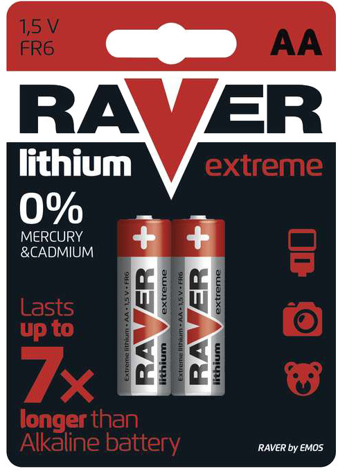 GP Raver, lithium, AA, 2ks