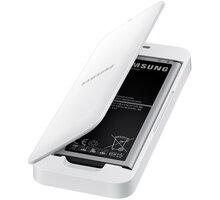 Samsung baterie s nabíjecím stojánkem EB-KN910B pro Galaxy Note 4, bílá - EB-KN910BWEGWW