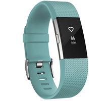 Fitbit Charge 2, L, modrozelená - FB407STEL-EU